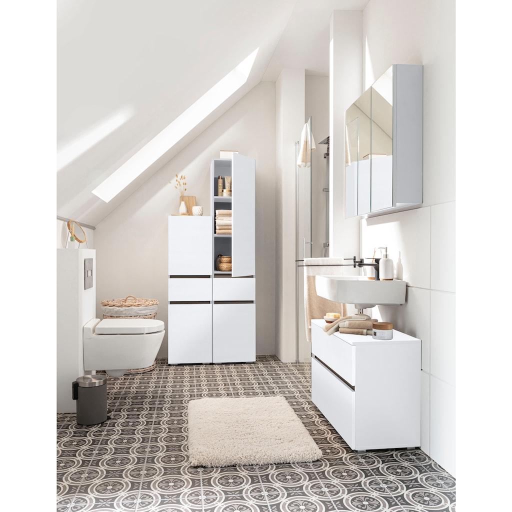 Home affaire Waschbeckenunterschrank »Wisla«, Breite 80 cm, oben Klappe & unten großer Auszug