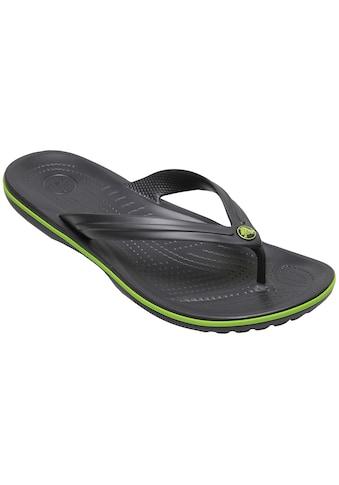 Crocs Clog »Crocband Flip graphite/volt green« kaufen