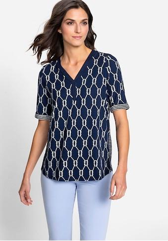 Olsen V-Shirt, mit maritimem Print kaufen