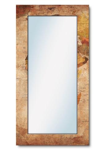 Artland Wandspiegel »Weltkarte«, gerahmter Ganzkörperspiegel mit Motivrahmen, geeignet... kaufen