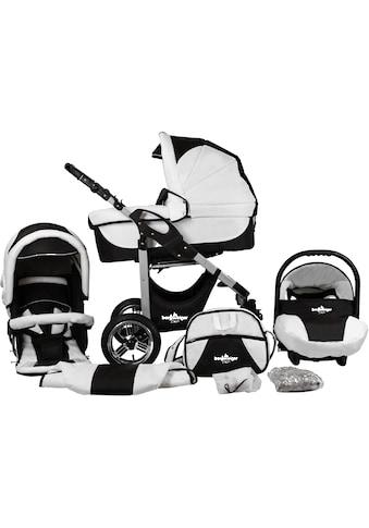 bergsteiger Kombi-Kinderwagen »Capri, black & white, 3in1«, 15 kg, Made in Europe kaufen