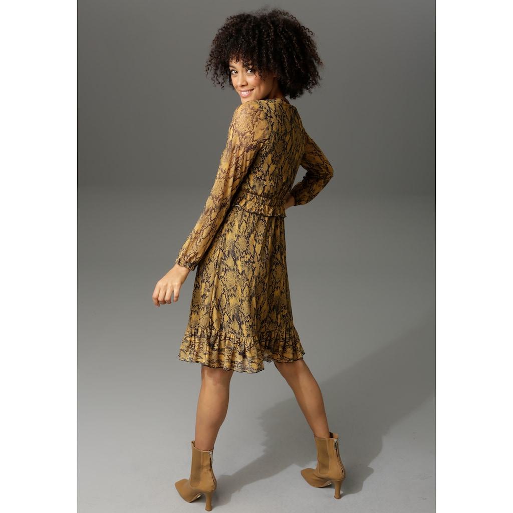 Aniston CASUAL Partykleid, in Schlangenoptik oder grafischem Alloverdruck