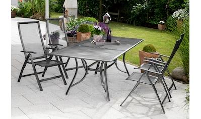 MERXX Gartenmöbelset »Delphi«, (5 tlg.), 4 Klappsessel mit ausziehbarem Tisch kaufen