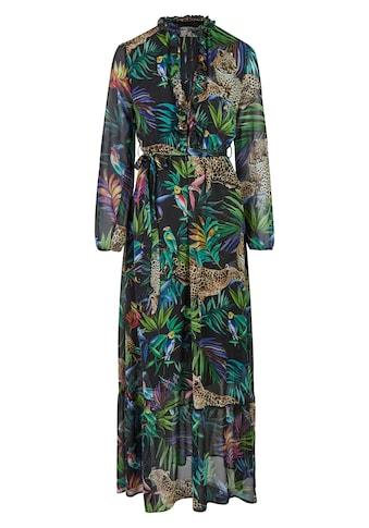 Nicowa Maxi - Kleid mit tropischem Allover - Print  -  ANIWA kaufen
