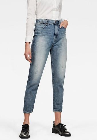 G-Star RAW Ankle-Jeans »Janeh Ultra High Mom Ankle Jeans«, abgerundete Passe hinten u. schräge Gürtelschlaufen für femininen Look kaufen
