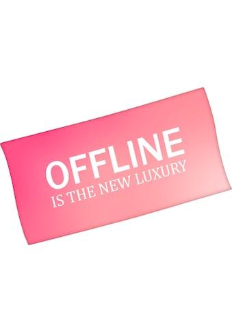 """Badetuch """"Offline is the new luxury"""", Minions kaufen"""