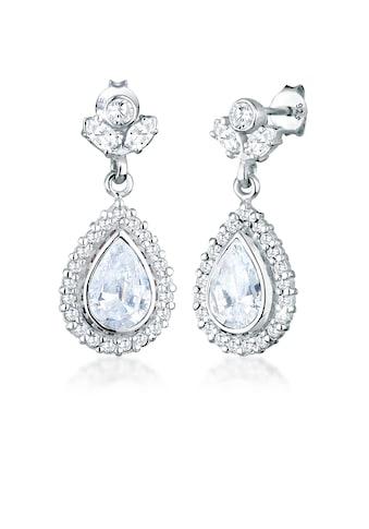 Elli Paar Ohrhänger »Stecker Königlich Glamour Zirkonia Tropfen Silber« kaufen