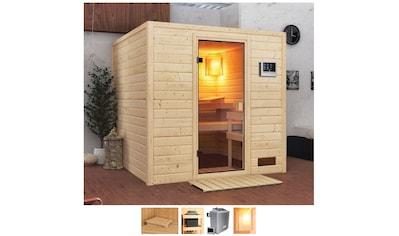 Karibu Sauna »Jacky«, 4,5-kW-Ofen mit ext. Steuerung kaufen