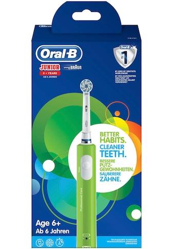 Oral B Elektrische Zahnbürste »Junior Green«, 1 St. Aufsteckbürsten kaufen
