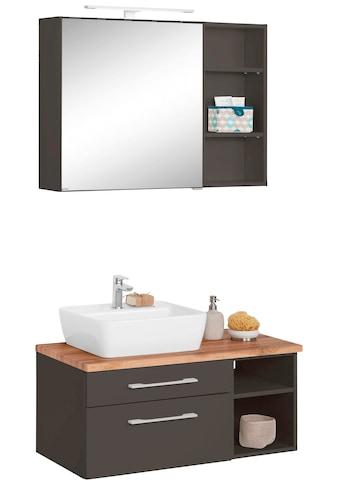 HELD MÖBEL Badmöbel-Set »Davos«, (3 St.), Spiegelschrank, Regal und Waschtisch kaufen
