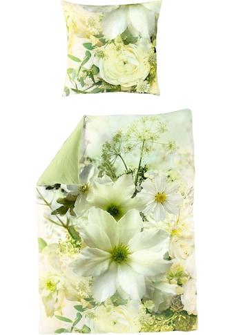 BIERBAUM Wendebettwäsche »Green Flower«, Digitaldruck kaufen