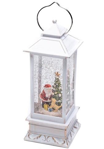KONSTSMIDE LED Dekolicht, Warmweiß, LED Wasserlaterne Weihnachtsmann mit Hund, für den... kaufen