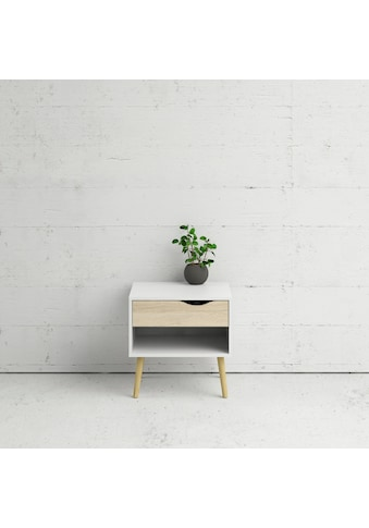 Home affaire Nachttisch »Oslo«, mit schönem massivem Beingestell, im Scandi Design kaufen