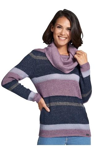 Casual Looks Pullover im farbharmonischem Blockstreifendessin kaufen