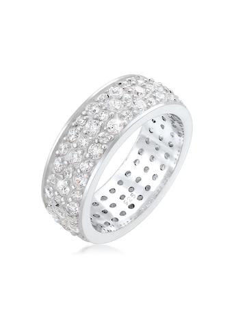 Elli Fingerring »Bandring Microsetting Zirkonia Kristall 925 Silber« kaufen