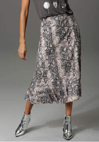 Aniston CASUAL Volantrock, mit trendigem Schlangenprint - kaufen