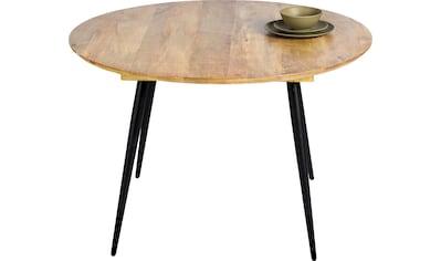 TOM TAILOR Esstisch »T-SOHO TABLE ROUND«, runder Esstisch, Platte aus Mangoholz, Beine... kaufen