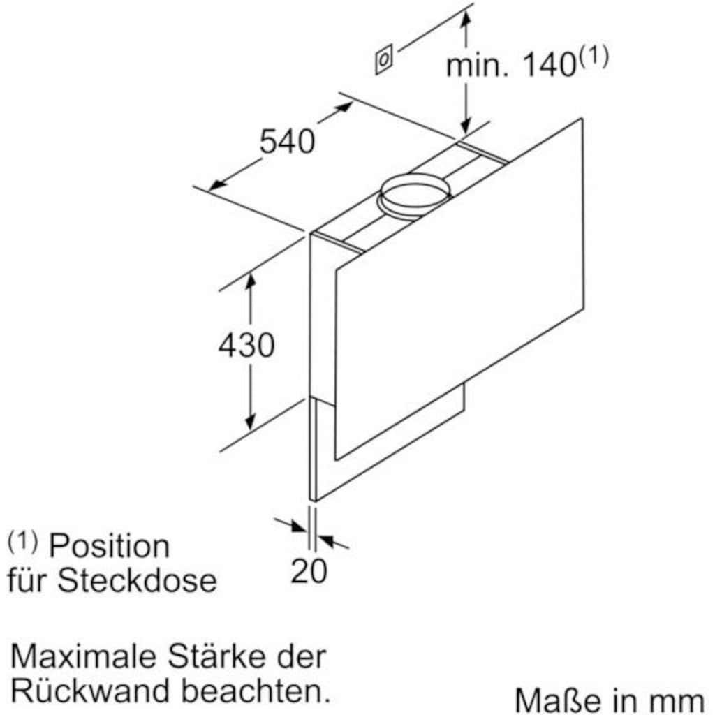 SIEMENS Kopffreihaube »LC97FLP20«, Serie iQ500