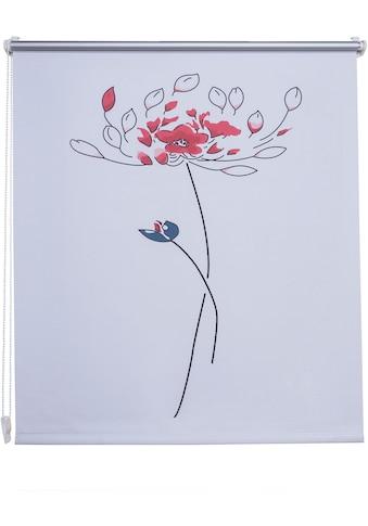 Liedeco Seitenzugrollo »Druck Blume«, verdunkelnd, energiesparend, ohne Bohren,... kaufen