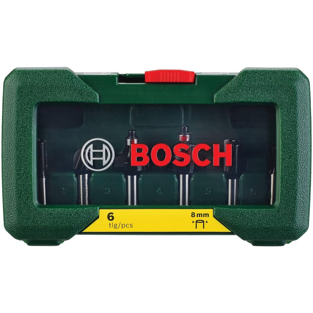 BOSCH Fräsbohrer, (Set, 6 tlg.), HM-Fräser 8 mm Schaft