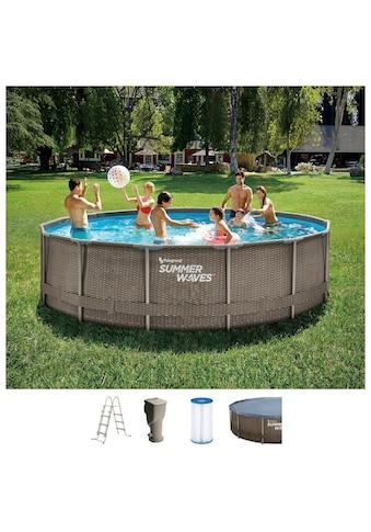 SummerWaves Rundpool »Active Frame«, (Set, 5 tlg.), ØxH: 457x106 cm kaufen