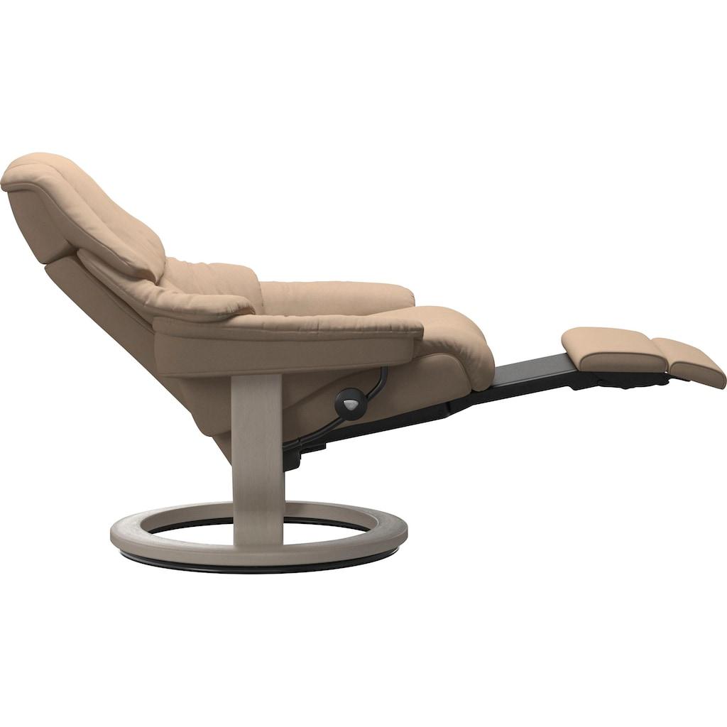 Stressless® Relaxsessel »Reno«, mit Classic Base und Power™, elektrisch verstellbar, optional 2-motorisch, Größe M & L, Gestell Whitewash