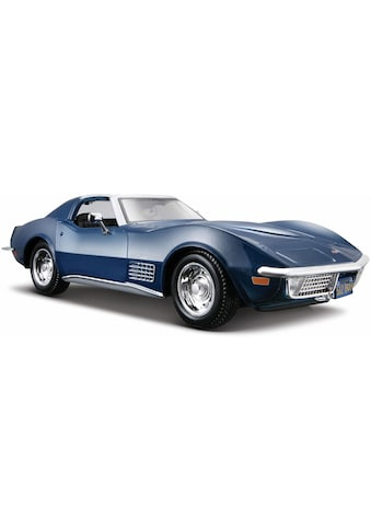Maisto® Sammlerauto »Chevrolet Corvette '70, 1:24, blau«, 1:24, aus Metallspritzguss kaufen
