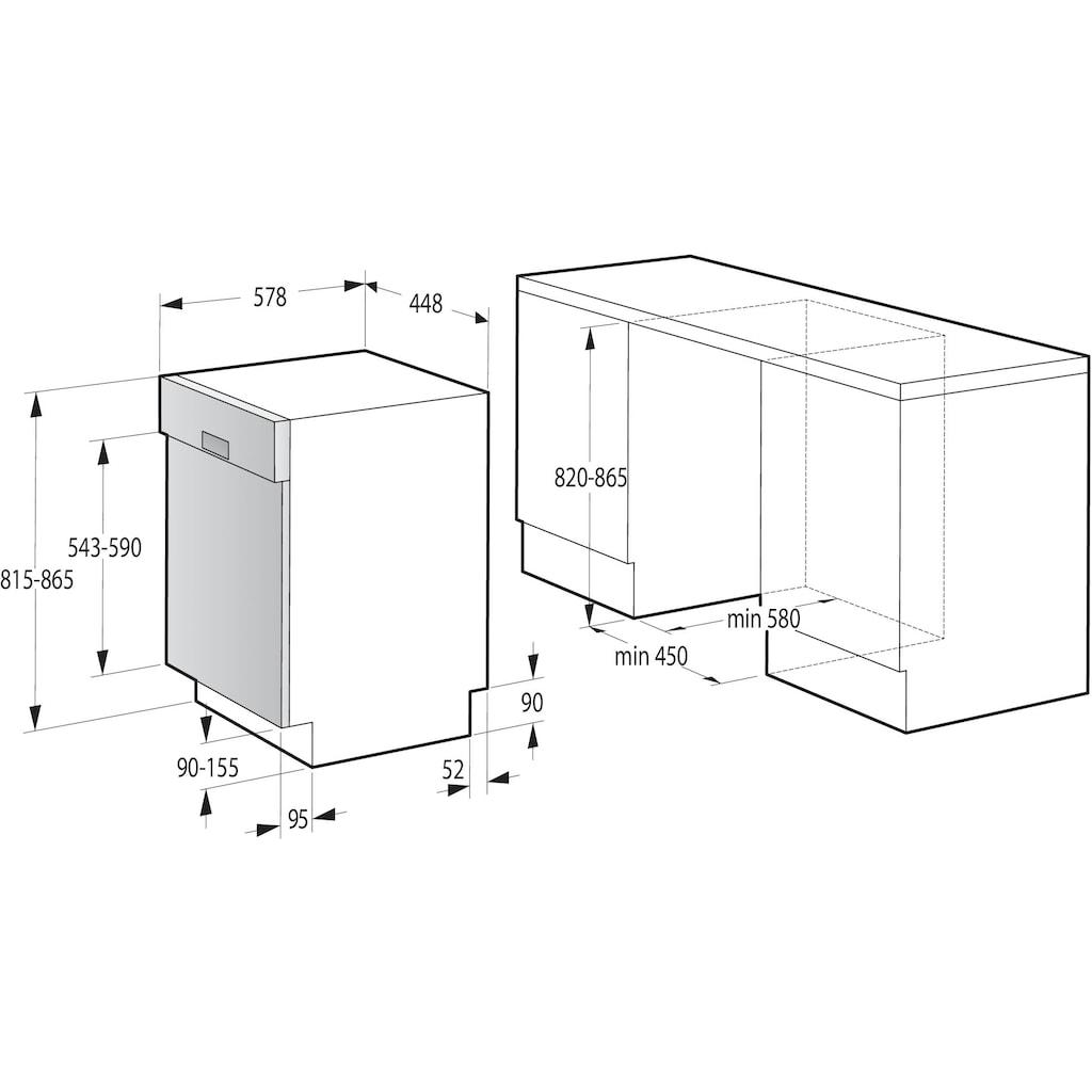 GORENJE teilintegrierbarer Geschirrspüler »GI52040X«, GI52040X, 9 Maßgedecke