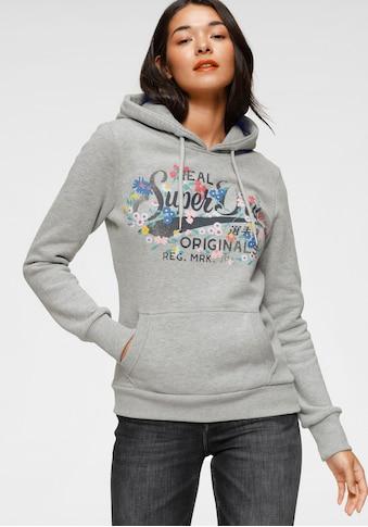Superdry Kapuzensweatshirt »REAL ORIGINALS FLORAL HOOD« kaufen