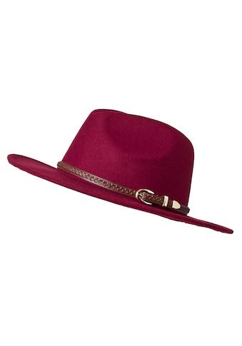 sheego by Joe Browns Filzhut, mit geflochtenem Gürtel als Hutband kaufen