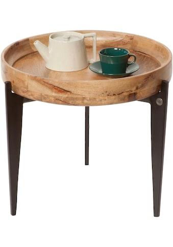 TOM TAILOR Beistelltisch »T-TRAY TABLE SMALL«, mit Tablett, rund, ø 46 cm kaufen