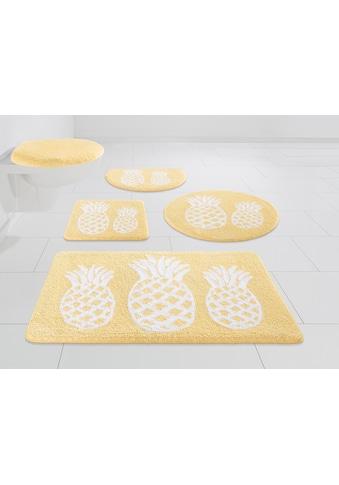 Badematte »Ananas«, my home, Höhe 12 mm, strapazierfähig kaufen