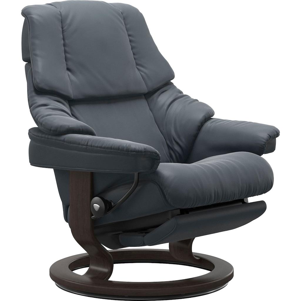 Stressless® Relaxsessel »Reno«, mit Classic Base und Power™, elektrisch verstellbar, optional 2-motorisch, Größe M & L, Gestell Wenge