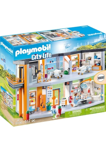 """Playmobil® Konstruktions - Spielset """"Großes Krankenhaus mit Einrichtung (70190), City Life"""", Kunststoff, (512 - tlg.) kaufen"""