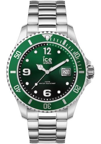 ice - watch Quarzuhr »ICE steel  -  Green Silver  -  Medium  -  3H, 16544« kaufen