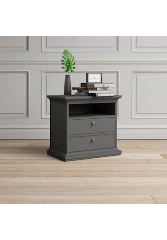 Home affaire Nachttisch »Paris«, mit 2 Schubladen und einem offenen Fach, Breite 62,6 cm kaufen
