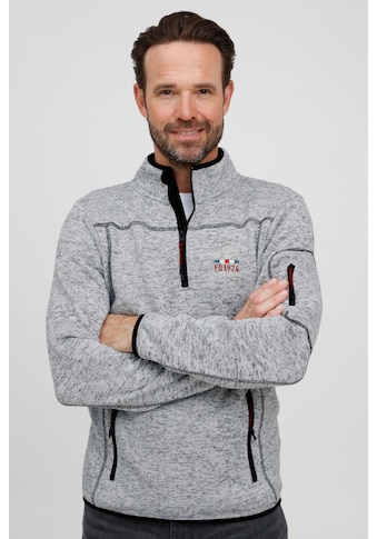 FQ1924 Troyer »Birk 21900115ME«, Fleece-Pullover mit dezenter Stickerei kaufen
