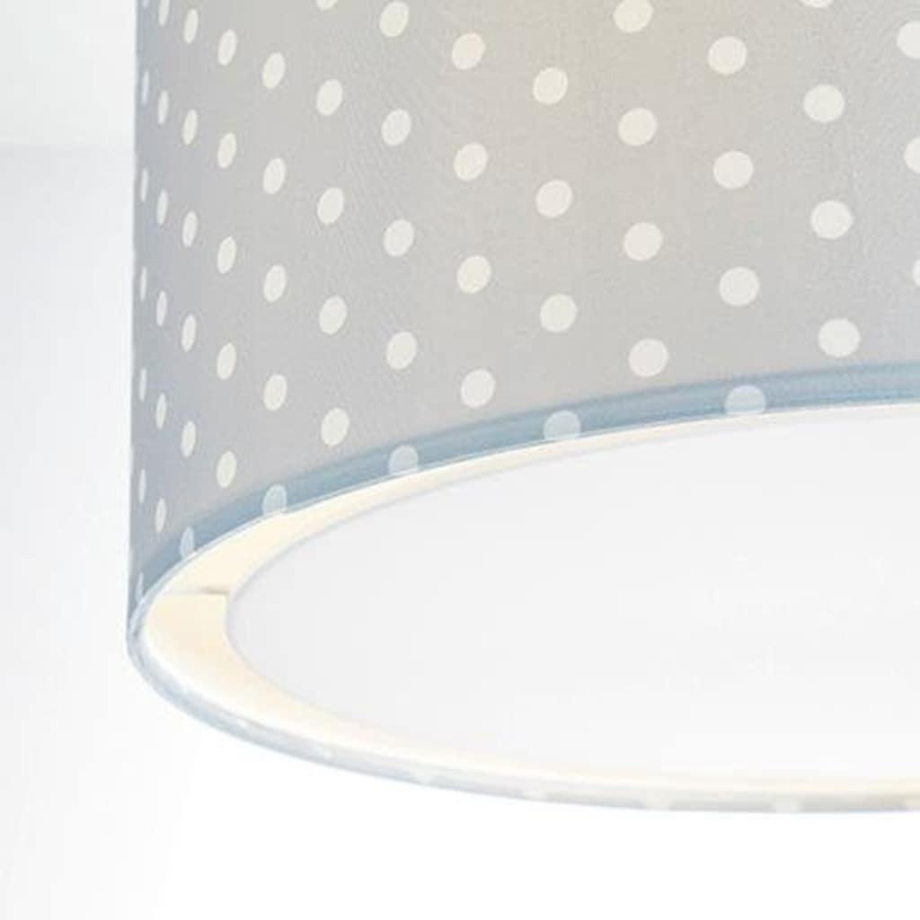 Lüttenhütt Deckenleuchte »Prick«, E27, Deckenlampe mit Punkte - Stoffschirm Ø 40 cm, grau / weiß gepunktet, Höhe 32 cm