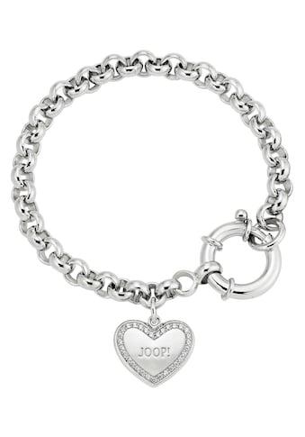 Joop! Silberarmband »Herz, 2025051«, mit Zirkonia kaufen