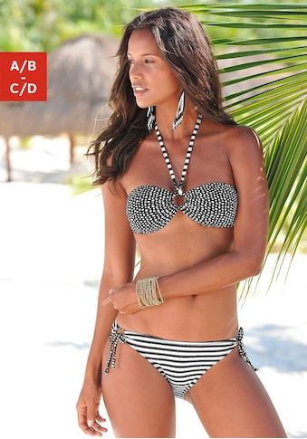 s.Oliver Beachwear Bandeau-Bikini, im coolen Mustermix kaufen