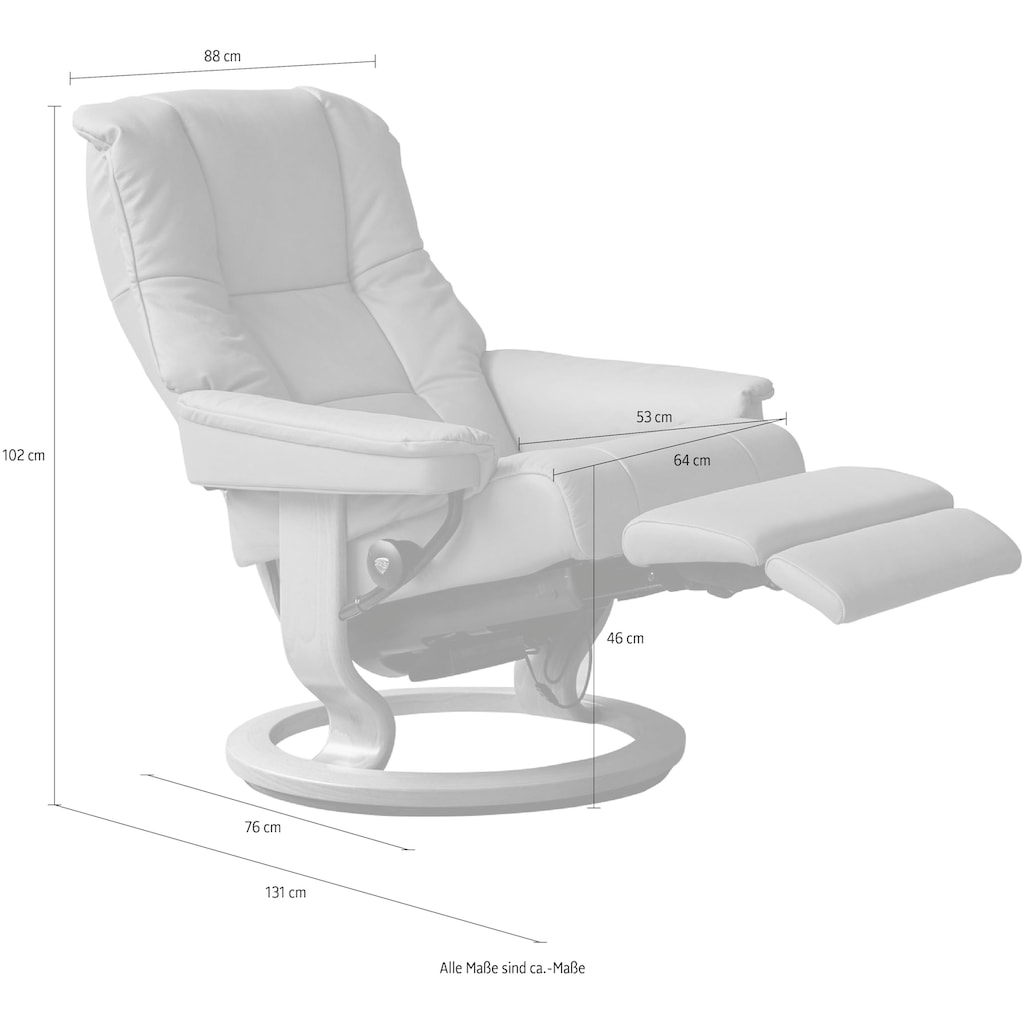 Stressless® Relaxsessel »Mayfair«, mit Classic Base und Power™, elektrisch verstellbar, optional 2-motorisch, Größe M & L, Gestell Schwarz