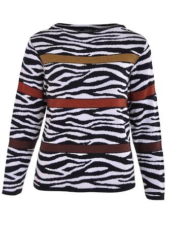 NAVIGAZIONE Strickpullover, mit Zebramuster kaufen