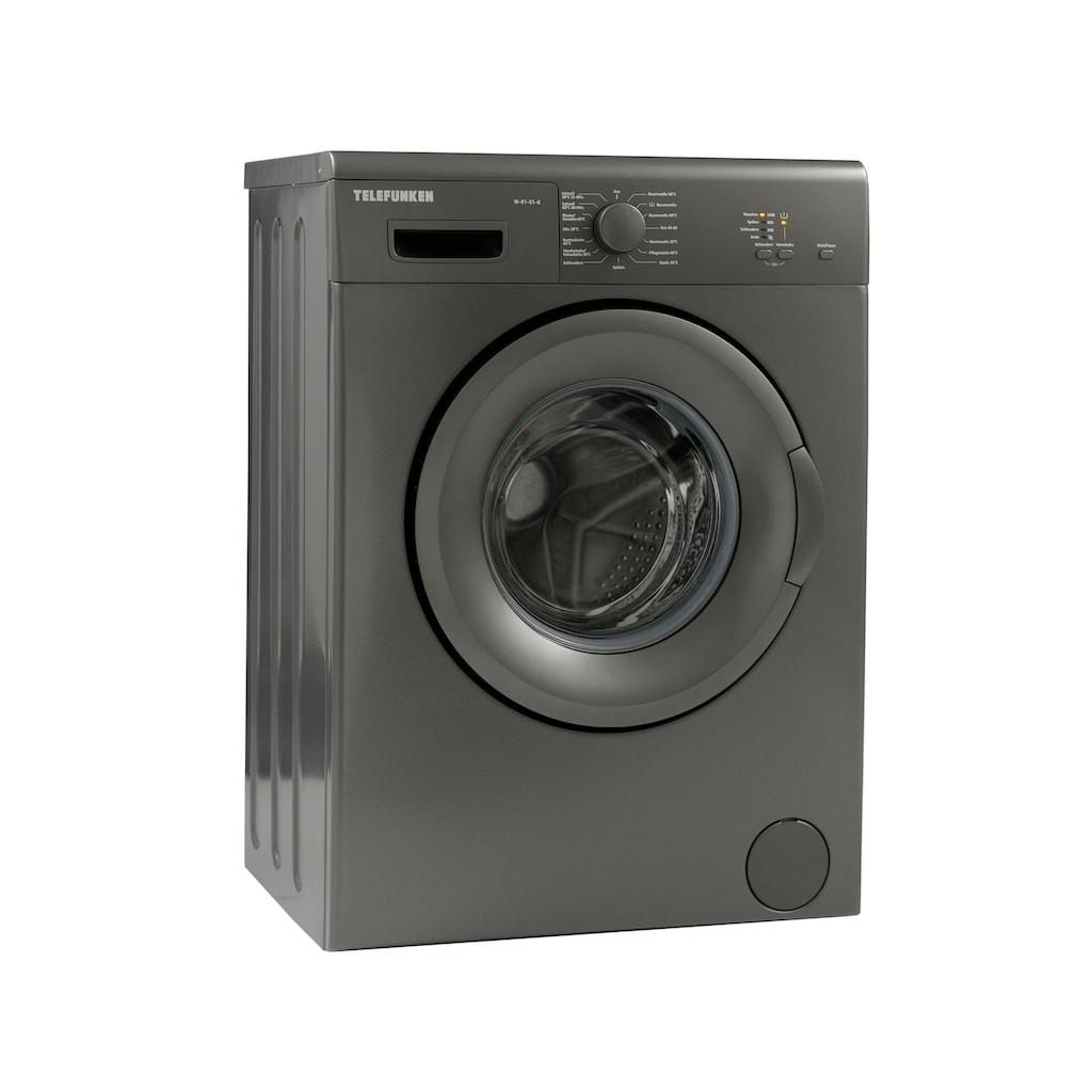 Telefunken Waschmaschine »W-01-51-G«, W-01-51-G, 5 kg, 1000 U/min, (5 kg / grau)