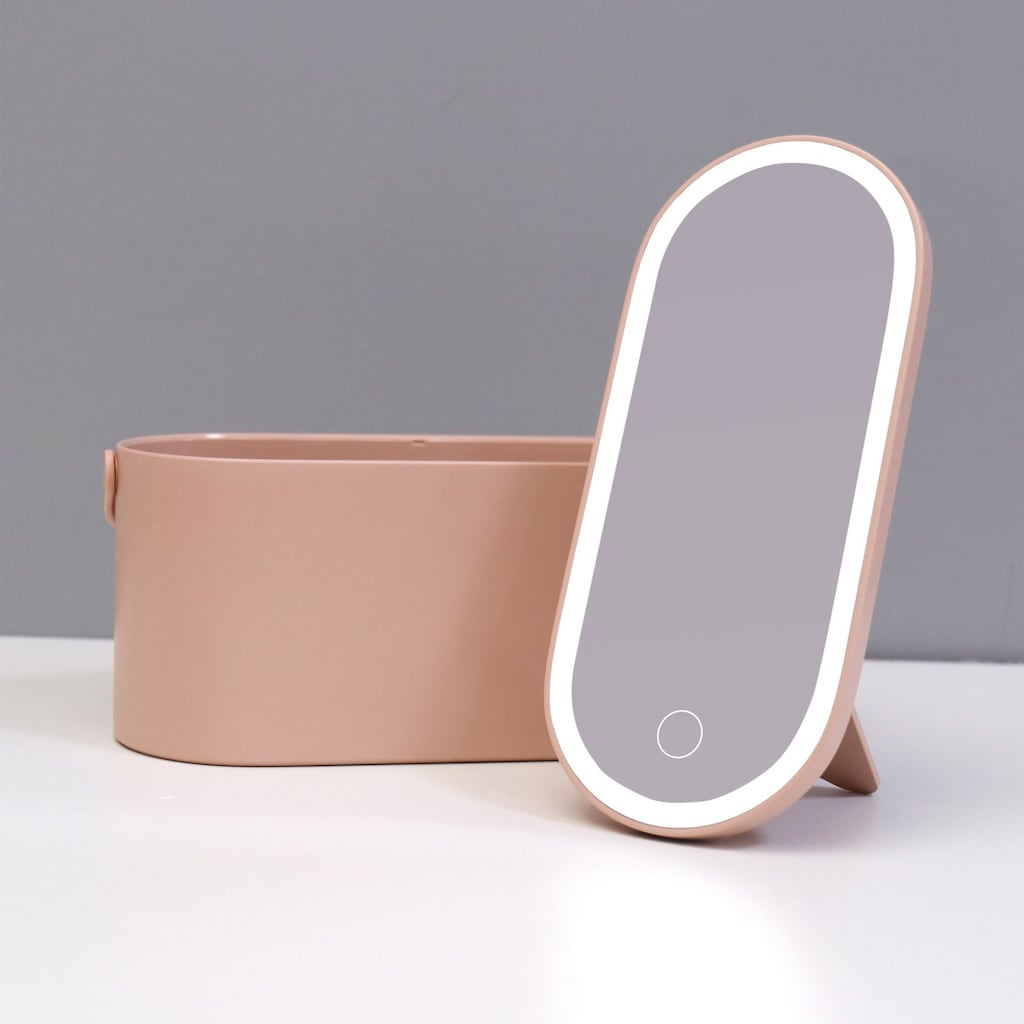 AILORIA Kosmetikspiegel »MAGNIFIQUE«, (1 St.), Beautycase mit LED-Spiegel (USB)