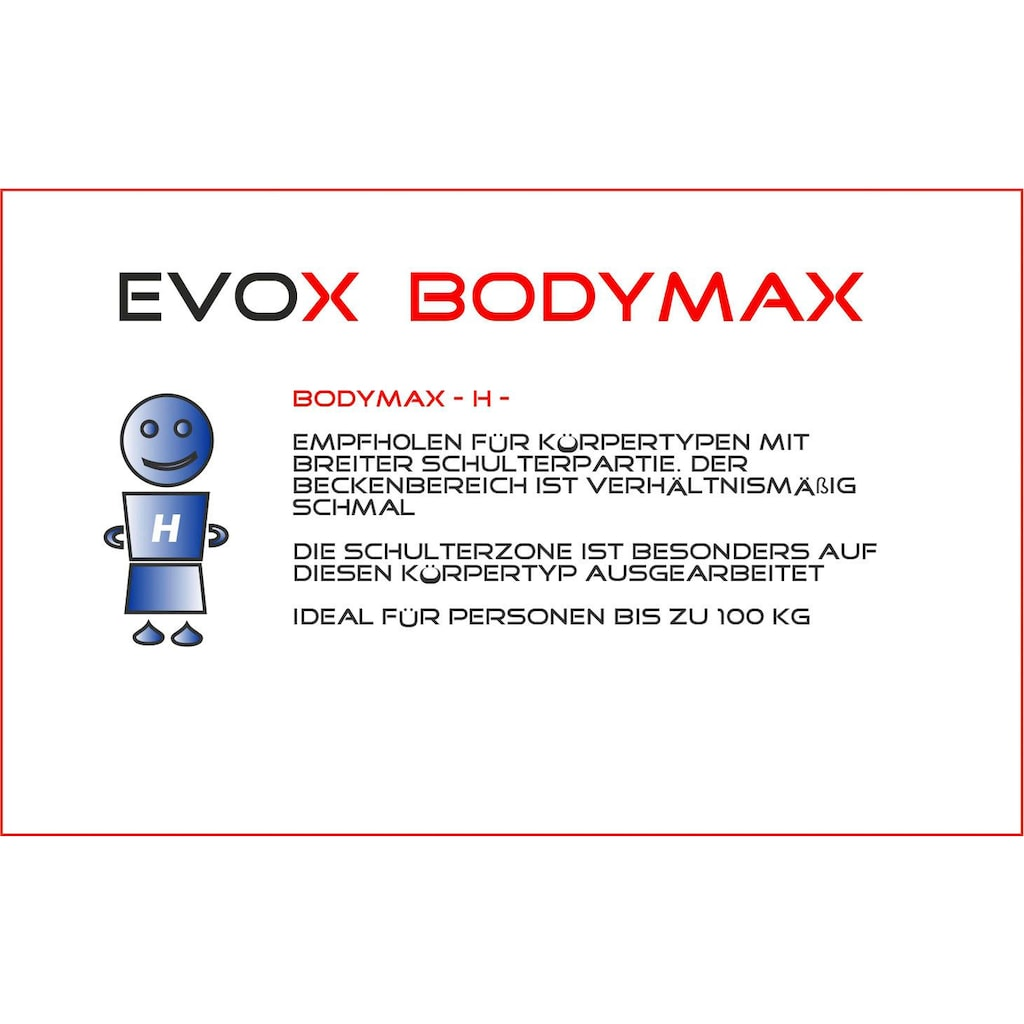 Breckle Gelschaummatratze »EVOX Bodymax H«, 24 cm cm hoch, (1 St.), Wendematratze mit zwei unterschiedlich festen Liegeseiten