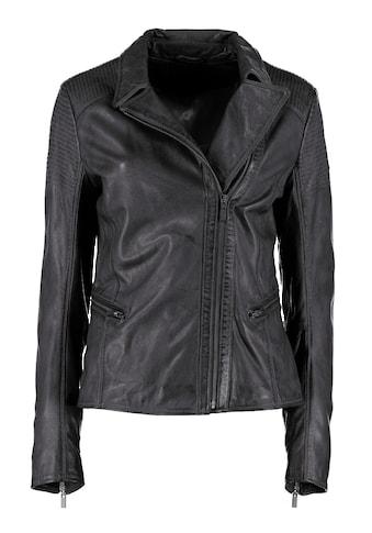 DNR Jackets Lederjacke, mit Umlegekragen und Steppungen kaufen