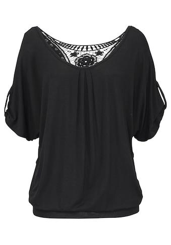 LASCANA Strandshirt, mit Häkeleinsatz am Rücken kaufen