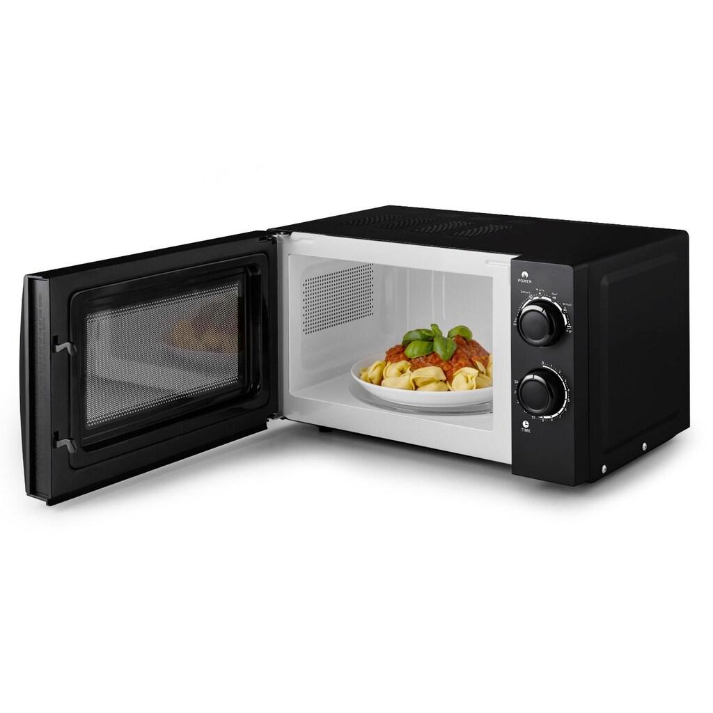 Klarstein Mikrowellen-Ofen schwarz mit Drehteller 20L 700W