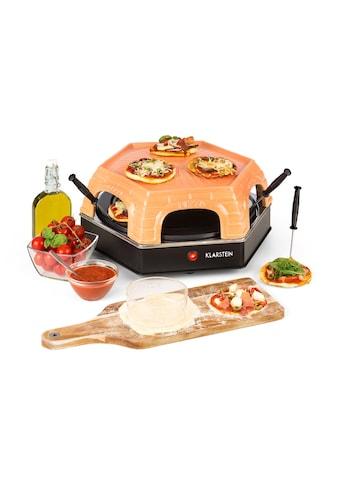 Klarstein Mini Pizzaofen Tischgrill Flammkuchen Elektrischer Ofen 1500W »Capricciosa« kaufen
