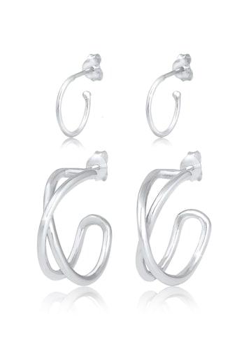 Elli Ohrring-Set »Creolen Hänger Set Kreuz Basic Geo 925 Silber« kaufen